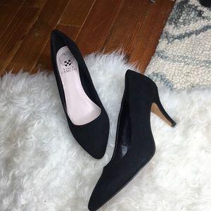 Vince Camuto Black Suede Low Heels